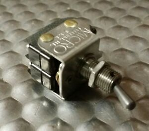 New Micro Switch 6at4 Toggle Switch Mil spec Dpdt 1 4 Bushing Silver Contacts