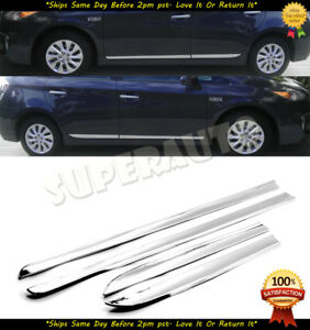 For 2012 2015 Toyota Prius Chrome Lower Body Side Molding Factory Style 12 13 14