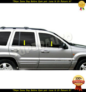 For 1999 2002 Jeep Grand Cherokee Polished Stainless Window Sills Moldings Trims