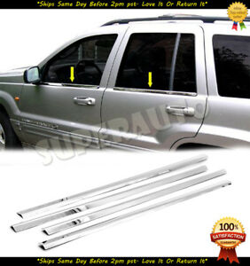 Stainless Steel Polished Window Trim For 2003 2004 Jeep Grand Cherokee