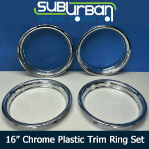 16 Chrome Abs Trim Rings 1 3 4 Depth Beauty Rings 1516p By Cci New Set 4