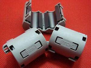 10pc Tdk 13mm Clip On Emi Rfi Filter Snap Around Ferrite