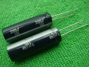 15pc Panasonic Fm 16v 3300uf Electrolytic Capacitor Oem