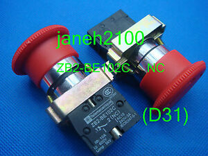 5pc Telemecanique Zb2 be102 Zb2 be102c Emergency Stop Nc Button Switch
