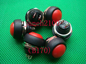 1000p Red Momentary Off on Push Button Horn Switch b170