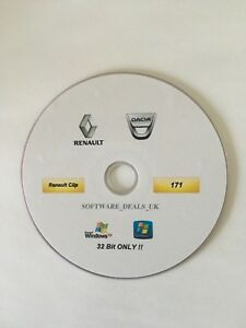 Renault Clip 171 Diagnostic Software On Dvd Latest September 2017 Version