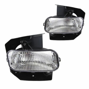 For 1999 2003 Ford F 150 Replacement Clear Lens Fog Light Front Bumper Lamp Pair