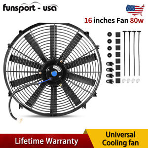 16inch Push Pull Electric Cooling Radiator Fan Reversible Kit 3000cfm Straight