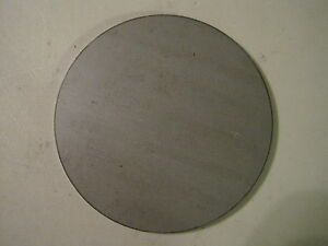 1 8 Steel Plate Disc Shaped 7 25 Diameter 125 A36 Steel Round Circle