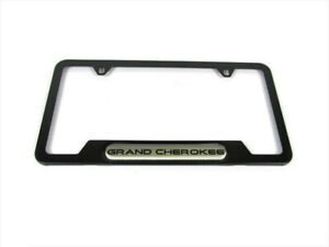1999 2018 Jeep Grand Cherokee License Plate Frame Satin Black Genuine Oem New