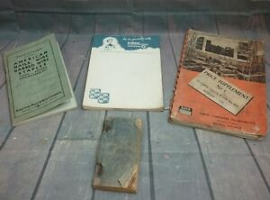 Lot Of 4 Antique Paper Books 1922 Manual Of Carpentry 1930 S Pocket Dict 1948