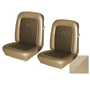 1968 Fastback Mustang Deluxe Shelby Full Set Seat Upholstery Parchment Tmi