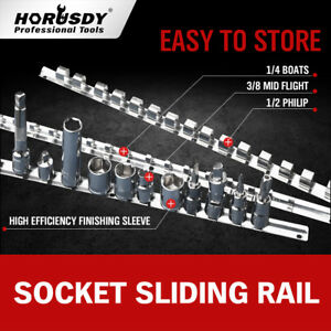 3 Socket Holder Sliding Rail Tray Organizer 1 4 3 8 1 2 Mountable Steel Rack