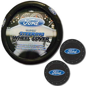 Ford Steering Wheel Cover W 2 Cup Holder Coasters