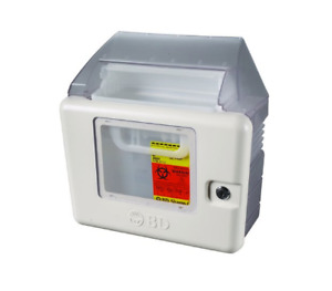 New Bd Sharps Container Collector Locking Wall Cabinet 5 4 Qt Disposable