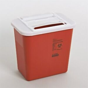 2 Gallon Multi Needle Disposal Container Lid Doctor Tattoo Sharp Lot Of 5