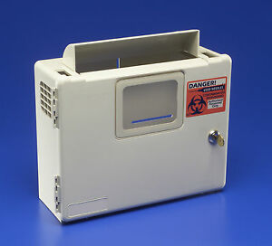 Kendall 5qt Sharps Container Wall Mount Cabinet Safety Keyed free Shipping