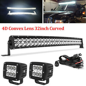 560w 42 Curved Led Light Bar Roof Fog Driving For Jeep 4wd Boat Truck Off Road