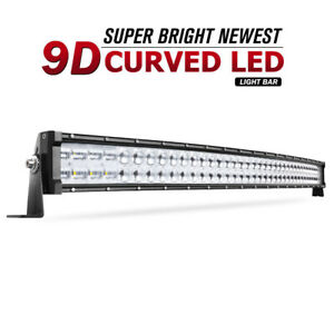 42inch 560w Curved 9d Led Light Bar Spot Flood Offroad Driving Truck 4wd Rzr 40