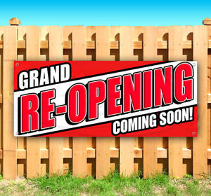 Grand Re opening Coming Soon Advertising Vinyl Banner Flag Sign Many Sizes Usa