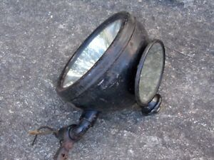 Model A T Spotlight Mirror Combo Howe Searchlight Antique Auto Truck Accessory