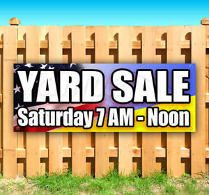 Yard Sale Customize Your Date Advertising Vinyl Banner Flag Sign Many Sizes