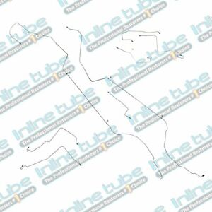 00 04 Oldsmobile Alero Preformed Brake Line Kit Abs 4 Wheel Disc Oe Steel