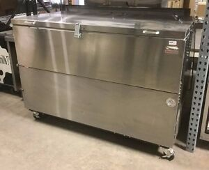 Nor lake Ar162sss 0 Open Front Milk Cooler Refrigerator