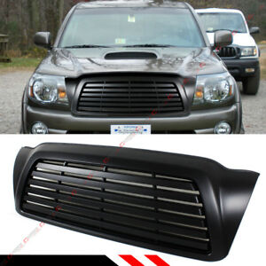For 2005 11 Toyota Tacoma Matt Blk Badgeless Horizontal Front Hood Grill Grille