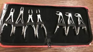 Pedo Children Dental Extracting Forceps Kit 7 Pcs With Pouch Dental Instruments