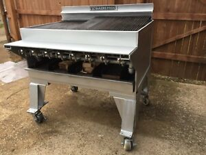 Bakers Pride Ch 8 44 8 Burner Hd Radiant Charbroiler W wood Log Attachment