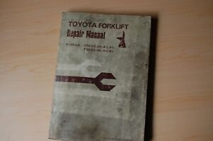 Toyota Fdc Fgc 33 35 40 45 Series Forklift Service Repair Manual 1982 Shop Owner