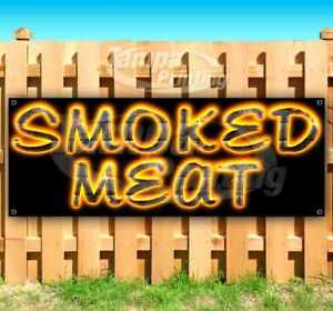 Smoked Meat Advertising Vinyl Banner Flag Sign Many Sizes Usa Bbq