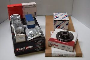 Pontiac 400 Master Engine Kit Forged Pistons Rings Dbl Timing Bearings Gaskets