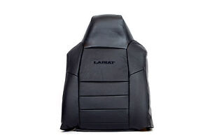 05 07 Ford F250 Lariat driver Lean Back Leather Seat Cover With Lariat Logo Bla