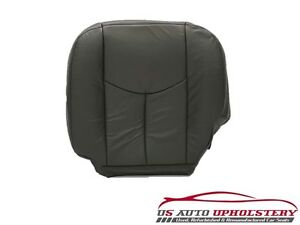 03 04 Chevy Silverado 3500 Lt driver Side Bottom Leather Seat Cover Dark Gray
