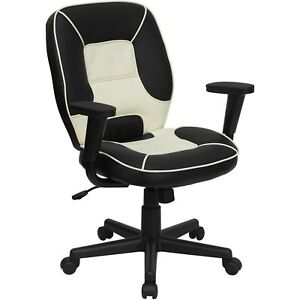 Mid back Vinyl Steno Executive Office Chair Bt 2922 bk gg