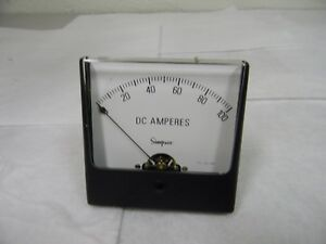 Simpson Analog Panel Meter Dc Ammeter 0 100dca 60hz 10 Ohms At 60 Hz 02740