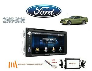 2005 2006 Ford Mustang Double Din Stereo Kit Bluetooth Usb Touchscreen Dvd