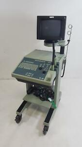 B k Medical 2001 Leopard Ultrasound With Transducers And Sony Up 890md Printer