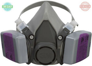 Lead Paint Removal Respirator Half Face Dust Masks Replaceable Cartridge 4