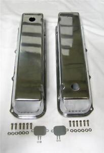 Big Block Ford Tall Polished Aluminum Valve Covers 429 460 Bbf With Hole Bbf