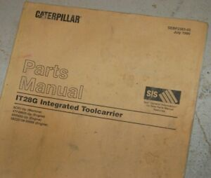 Cat Caterpillar It28g It Machine Parts Manual Catalog Wheel Loader Front End Tc