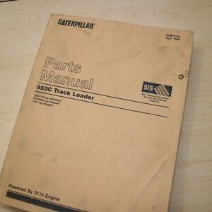 Cat Caterpillar 953c Track Loader Crawler Parts Manual Book 2zn Front End 1998