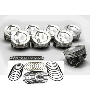 Speed Pro Chevy 383ci Stroker Hypereutectic Coated Pistons Moly Rings 030