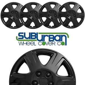 Brand New Set Of 4 15 Gloss Black Hubcaps 422 15blk Metal Clips Perfect Fit