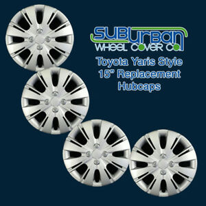 2012 2015 Toyota Yaris Style 509 15s 15 Replacement Hubcaps Low Cost Set 4