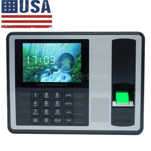 T9 Input Lcd Fingerprint Attendance Machine Time Clock Employee Checking in S0s8