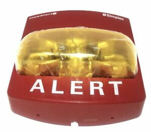 new Simplex 49vo wra a Amber Strobe Only Wall Mt red