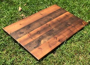 Rustic Wood Desk Home Bar Coffee End Night Table Top Restaurant Reclaimed